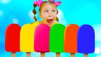 寓教于乐!萌宝小萝莉如何快速制作水果冰棒呢?为何大家都为她鼓掌了?两分钟学六种色彩