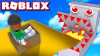 小飞象解说✘Roblox盒子跑酷模拟器 变成了一个纸箱!还要完成极限挑战!乐高小游戏