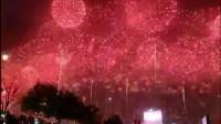 2019国庆70周年华诞前夜,河北正定南城门璀璨的烟花,五彩缤纷,华丽多姿,美爆了!祖国万岁!