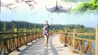 好心情蓝蓝广场舞原创【146】动感健身舞DJ64步【全民社会摇正背面】附教学