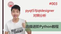 Python高级进阶教程003期 pyqt5与qtdesigner对照分析