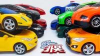 你好汽车玩具车警车跑车动漫变形车机器人车玩具转换