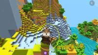 迷你世界荒岛生存2:兔八哥登上山顶,四处瞭望,寻找安家之处