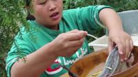农村妹烹饪广州菜,放点蜜汁方圆百里都芬芳四溢