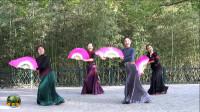 紫竹院广场舞《风含情水含笑》,新舞