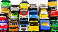 开箱18辆泰路小巴士 消防车救护车校车亲子玩具展示