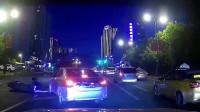 行车记录仪:外卖小哥绿灯直行,谁知旁边轿车要左拐!事故发生就在瞬间
