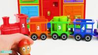 小火车玩具 认识形状和颜色搭建小房子