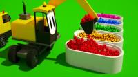 挖掘机最新工作视频大全 挖土机玩具视频 翻斗车  吊车 (71)