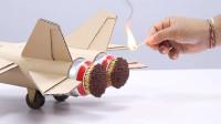 外国小哥突发奇想,自制纸壳飞机用火柴点燃,最终它起飞了吗?