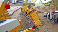 最新挖掘机视频表演36362大卡车运输挖土机+挖机工作+工程车