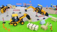 最新挖掘机视频表演656大卡车运输挖土机+挖机工作+工程车