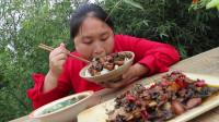 胖妹做梅干菜烧肉,超下饭,肥而不腻,胖妹:就是太费米饭了