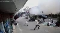 监控曝光!无锡一小吃店发生燃气爆炸事故现场一片废墟