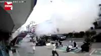 监拍无锡一小吃店燃气爆炸致8人受伤,路人抱头狂奔:像地震一样