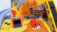 多美TOMY泰路小巴士城市工程建筑机械套装 益智教育玩具开箱