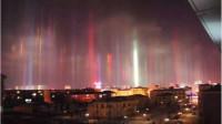 天空中的神秘光束,罕见的日柱现象