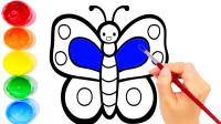 儿童简笔画一起学画蝴蝶吧!