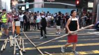 硬气!香港中年女子挺身刚暴徒:我只有一条命,但一定要阻止你们