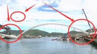 无锡刚发生立交桥坍塌事件,这架桥也崩塌了,监控拍下惊恐全程