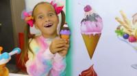 太神奇了!小萝莉画了一个冰激凌,结果竟然真的得到一个冰激凌?