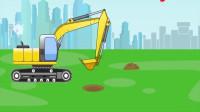 卡通工程车运输建造小游戏