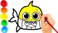 儿童简笔画一起学画宝宝鲨鱼吧!