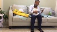 亲子 爸爸抱宝宝 萌宝(二宝七个月了)