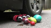 汽车碾压实验:牛人使用小汽车碾压可乐和果冻,请勿轻易模仿!