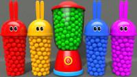 超神奇!四种彩色的兔子杯竟然变出了狮子、小马?到底怎么回事?儿童亲子玩具故事游戏