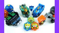 开箱传奇英雄三国传装甲玩具车和大型合体变形机器人