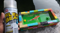 创意发明:用乐高做的鱼缸,不仅好看而且还不漏水!养鱼妥妥滴