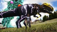 方舟生存进化-神话元素第43期 沙漠遇到超牛霸王龙 太厉害了!