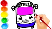 儿童简笔画一起学画巴士吧!
