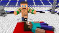 我的世界:怪物学院WWE摔跤体验?太酸爽了!