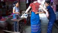 为何缅甸女人常年穿筒裙,当她们把筒裙脱下后,真的是开眼了