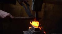 原始技术 金属冶炼 制作2个锻造锤十字钉