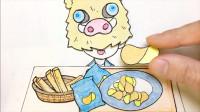手绘定格动画:现炸的薯片,吃起来嘎嘣脆,可这位明星是谁