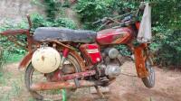 1994年买的雅马哈摩托车,从角落里推出来,准备翻新一下,上集