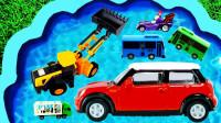 儿童启蒙早教乐园:学习英语知识,认识各种小汽车、工程车玩具!
