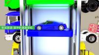 6辆超级跑车,在立体停车塔停车,它们在根据什么规律停车呢?