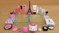 """用""""巴黎铁塔""""做无硼砂泥,混合粉色和白色彩妆,最后会是什么颜色?"""