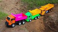最新挖掘机视频表演1267大卡车运输挖土机+挖机工作+工程车
