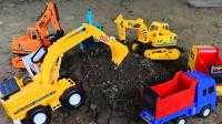 最新挖掘机视频表演1268大卡车运输挖土机+挖机工作+工程车