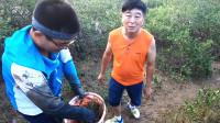渔夫环海南岛赶海,疑是挖到传说中的药蟹,引来游客羡慕