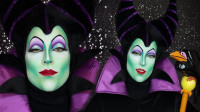 国外女子美妆秀:仿妆沉睡魔咒邪恶王后你觉得像吗?