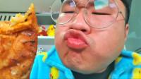 韩国大胃王小胖,吃一大桌子的美食,吧唧吧唧吃的真豪放