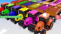 4种颜色的橡皮泥表情包里的4颗彩蛋,打开之后是4种颜色的玩具车