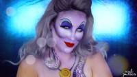 女子仿妆迪士尼动漫:美妆打扮成了小美人鱼里的乌苏拉
