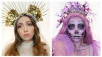 美女挑战两款万圣节妆容:化妆打扮后你觉得哪种更好看?